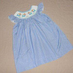 Other - Mermaids Smocked Embroidered Bishop Dress Sz 9m